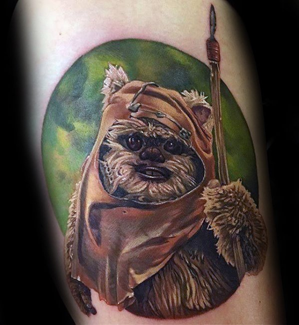 Guy met Ewok Tattoo Design