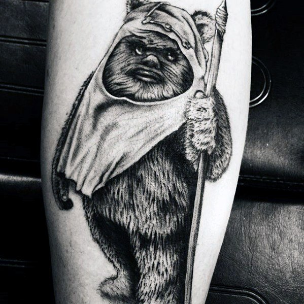 Manly Ewok Tattoo Design Ideas voor mannen