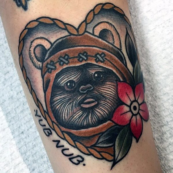 Mens Ewok Tattoo