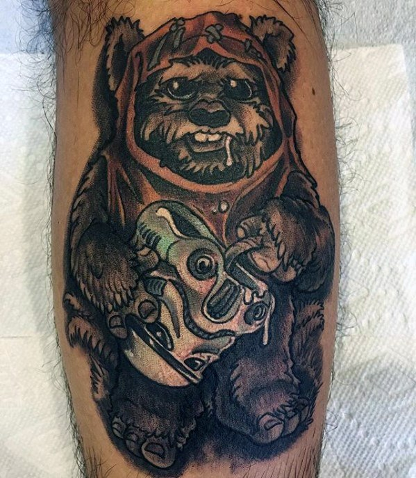 Mens Ewok Tattoo Design Ideas