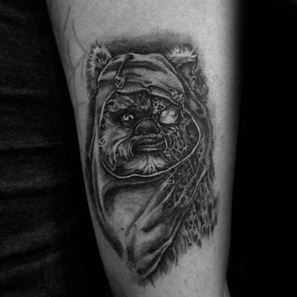 Mens Ewok Tattoo Design inspiratie