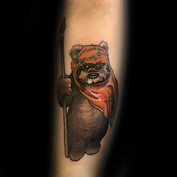 Heren tattoo Ewok Design