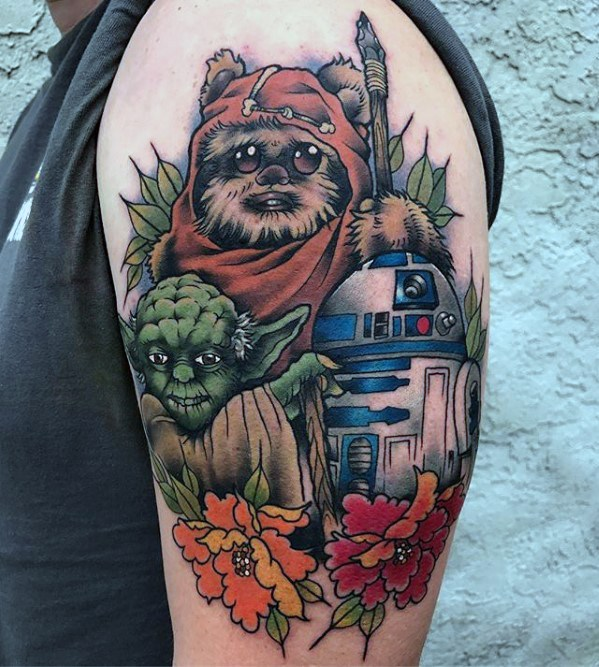Heren Tattoo met Ewok Design