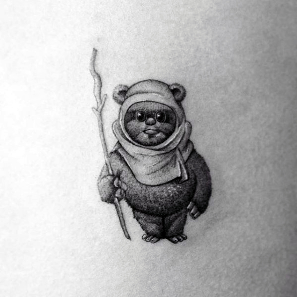 Sharp Ewok Man Tattoo Ideas
