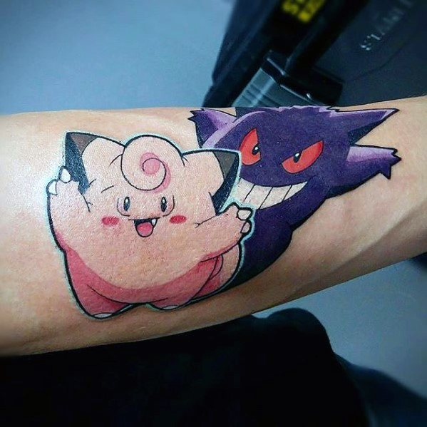 Gengar Mens Tattoo Designs