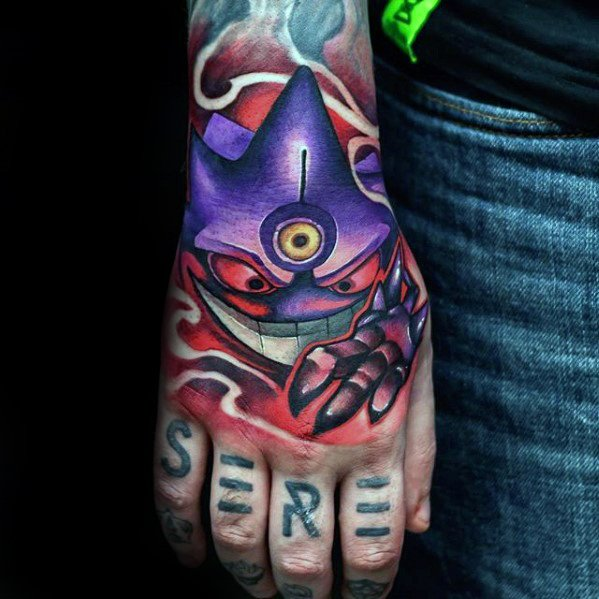 Gengar Mens Tatu Idea