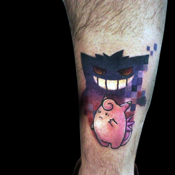 Idea Lelaki Tattoo Ideas Gengar Designs