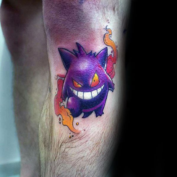 Guy With Gengar Tattoo Design