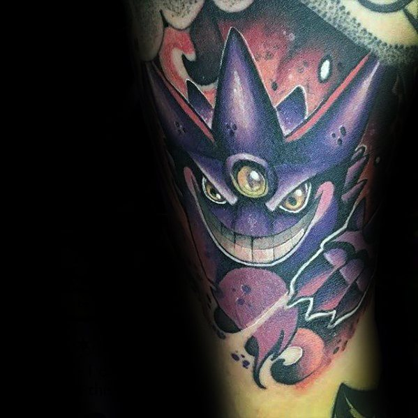 Mann Cool Gengar Tattoo Ideas