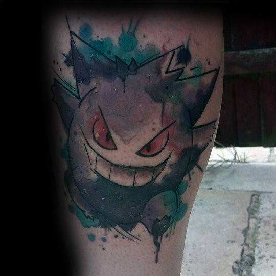 Mens Cool Gengar Tattoo Ideas