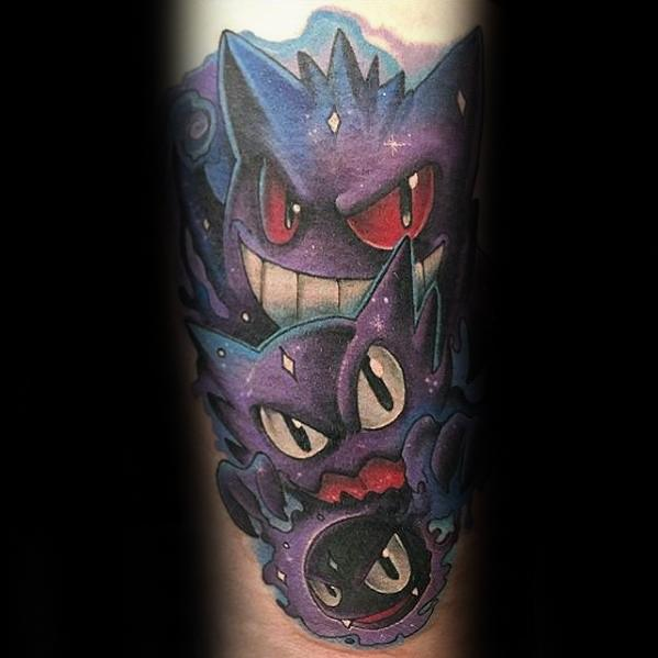 Mens Gengar Tattoo Design Ideas