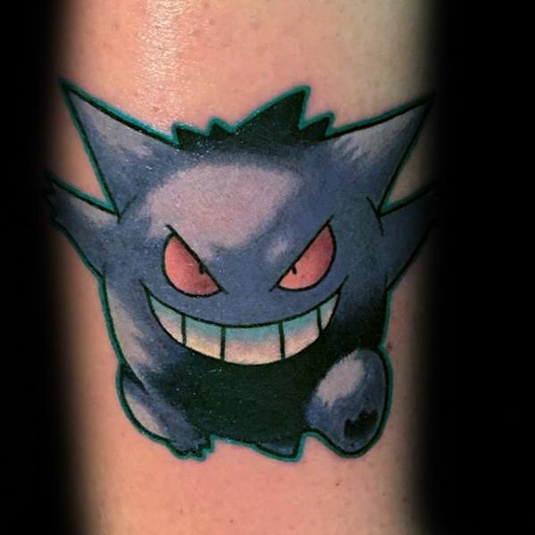 Sharp Gengar Male Tattoo Ideas