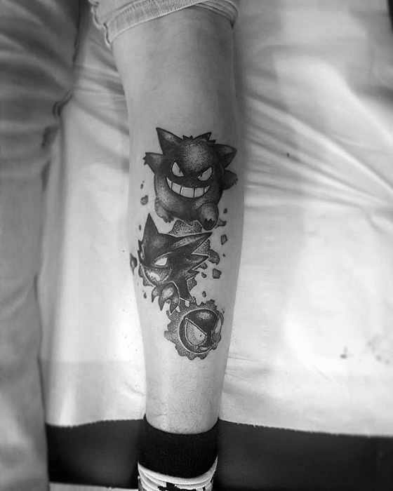 Gengar Guys Tattoo Ideas