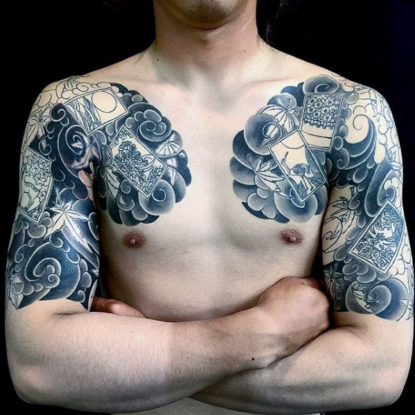 Cool Photo themmed Mens Half Sleeve Japanese Tattoo Ideas