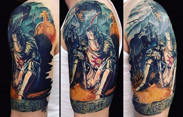 Cool Dark Souls Tattoo Design Idéias Para Masculino