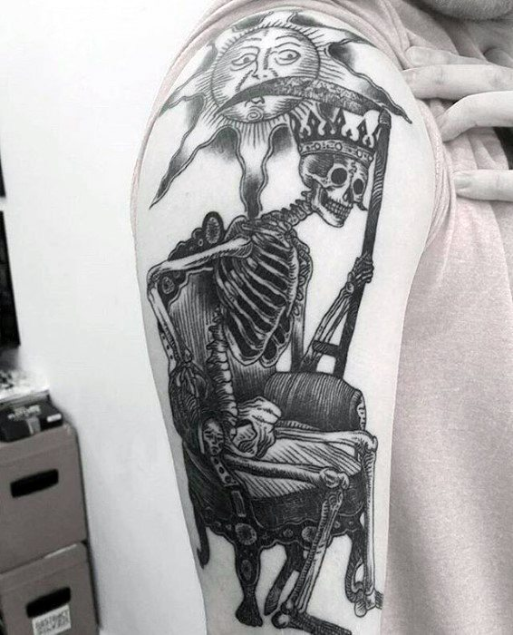 Mens Cool Dark Souls Tattoo Ideias