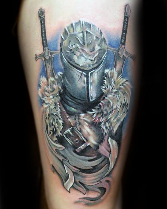 Mens Dark Souls Tattoo Design Ideias