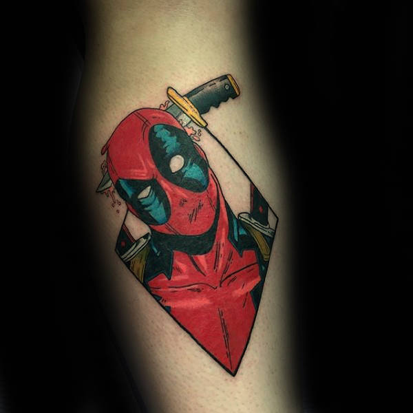 Deadpool Dagger Mens Tattoo Nylon