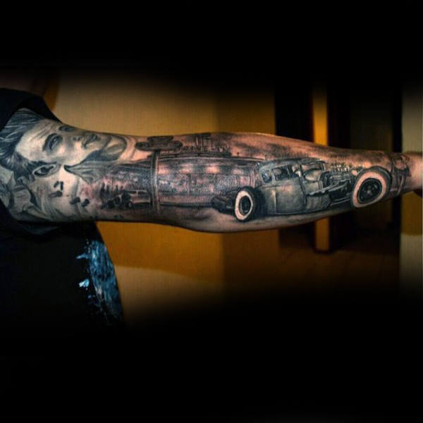 Spektakulär = Hot Rod Tattoo Male Full Sleeve