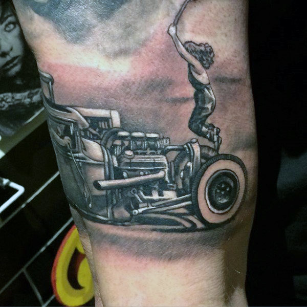 Drag Racing Hot Rod Tattoos für Männer