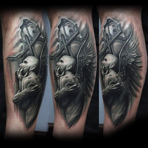 Jungs Unterarme Amazing Black And White Tattoo