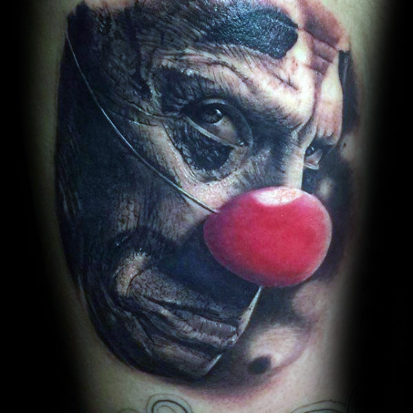 Clown met rode neus Arm Tatoeages voor heren