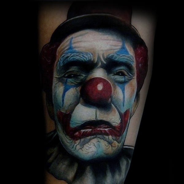 Cool Circus Clown Tattoo Inspiratie voor jongens op arm