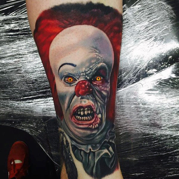 Creepy Clown Mens Onderarm Mouw Tattoos