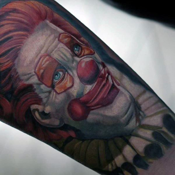 Circus Clown Jongens Arm Tattoos