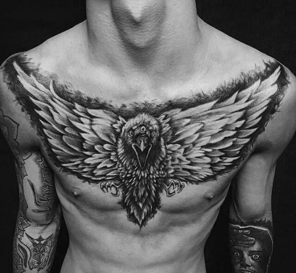 Mężczyzna Chest Bird Game Of Thrones Tattoo Design Ideas