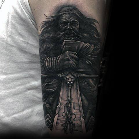 Męskie Game Of Thrones Sword Arm Tattoo Ideas