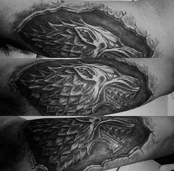 Stone 3d Outer Forearm Game Of Thrones Guys Tatuaże