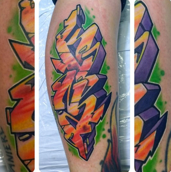 Guys Avambrello Wildstyle Graffiti Tattoo Designs