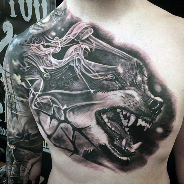 Pertumbuhan Wolf Incredible Black Ink Guys Dada Tatu
