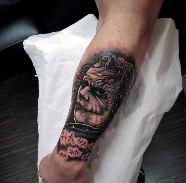 Cool Joker Forearm Mens Sleeve Tatotos