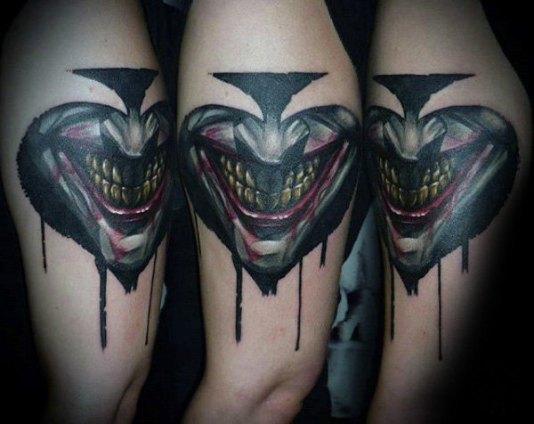Joker Spade Mens Cool Arm Tattoo