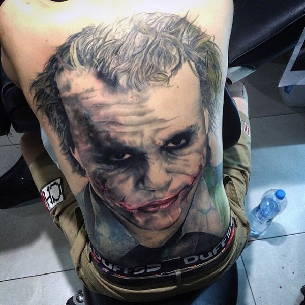 Niesamowite Joker Full Back Guys Tattoos
