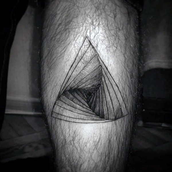 Mustahil Tangga Triangle Tattoo On Legs For Guys