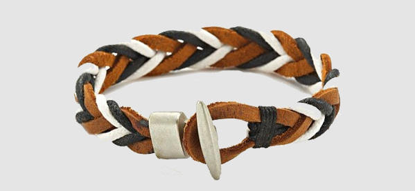 Cool Trendy Men's Woven Leather Bracelets