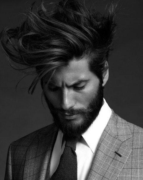 Messy Wavy Flow Haircut For Men Trendy