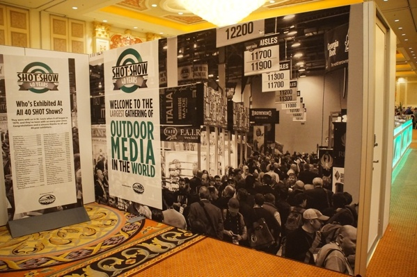 Shot Show Press Press Room Wall