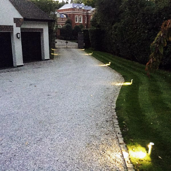 Over Ground Driveway Lighting Landscape Exterior Ideas