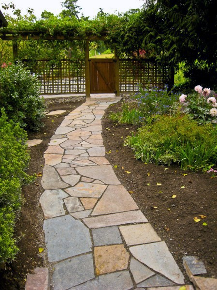 Quintal Flagstone Passarela Cool Outdoor Ideas