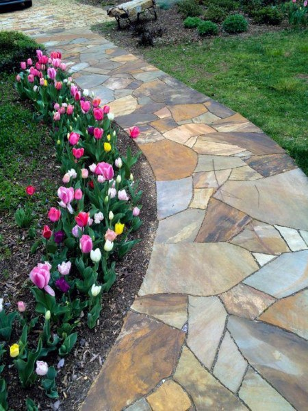 Magnificent Flagstone Flagway Design Ideas