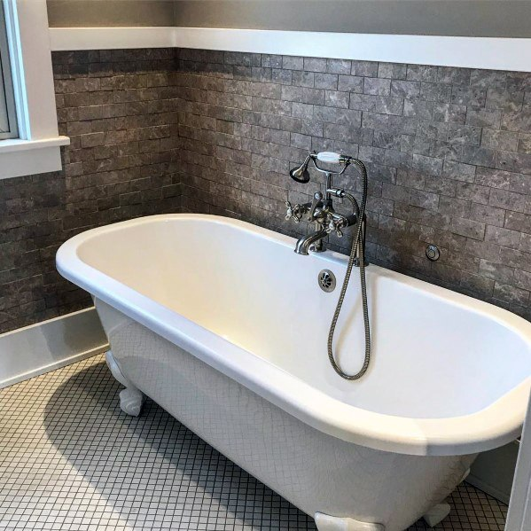Dark Stone Bath Tile Ideas