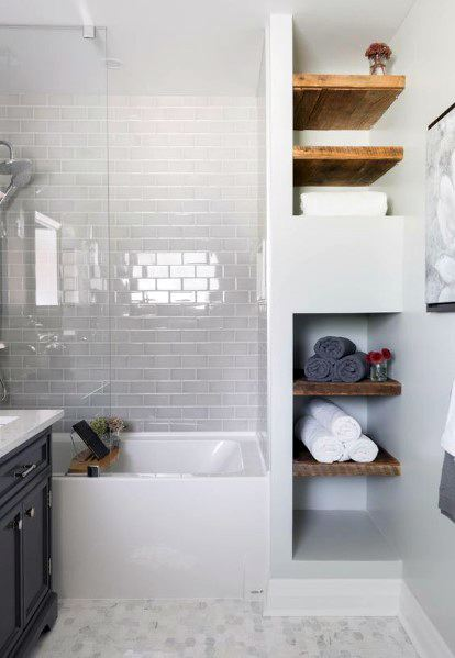 Awesome Bathtub Tile Ideas For Small Bathrooms