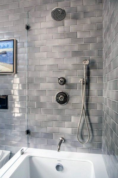 Gray Impressive Bathtub Tile Ideas