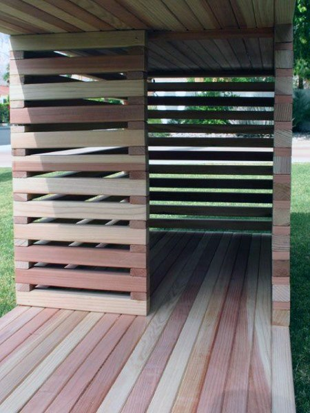 Open Slat Wood Dog House Ideas