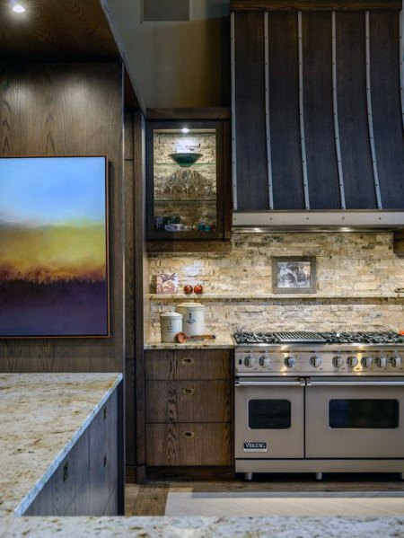 Rustic Home Stone Backsplash Idėjos
