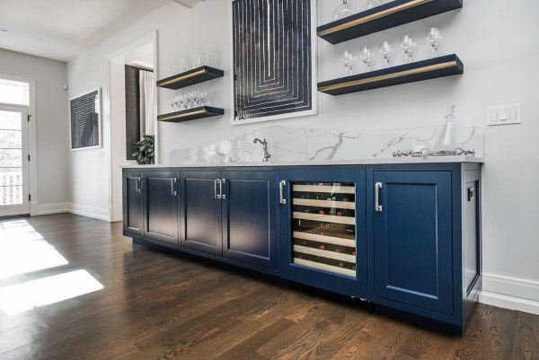 Blue Cabinets Home